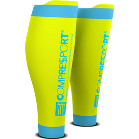 Compressport R2V2 Manchons de compression pour mollets, fluo yellow